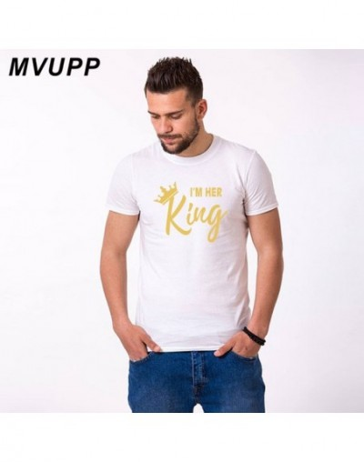 couple t shirt for husband and wife lovers king queen clothes funny tops tee femme casual men women dress 2019 ulzzang haraj...