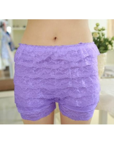 Comfortable Short Pants New Summer 8 Floors Lace Shorts Under Skirt Lace Underwears Boxers 1 Pc Shorts Solid - D040 Lavender...
