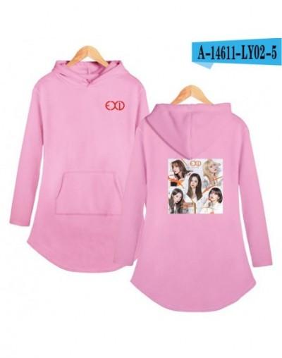 Leisure HIP HOP EXID print Basic kpop hip hop cool Hoodies Dress casual high Street kawaii Women Autumn/Winter Dress - pink ...