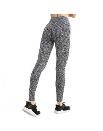 Women Sporting Push Up Leggings Fashion High Waist Fitness Leggins Spandex Stretch Leggings Women Pants - Stripe-Black - 4W3...