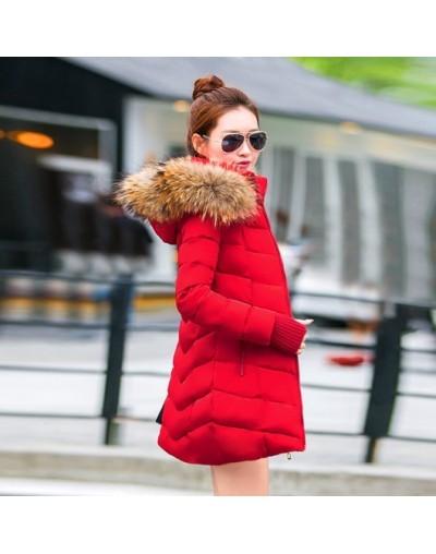 winter jacket women 2019 New parka Female Women Winter Coat Thickening Cotton Outwear Faux fox fur casacos de inverno femini...
