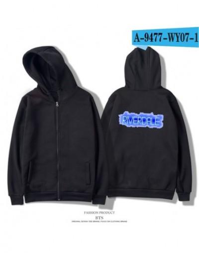 Riverdale Hoodies Sweatshirts Men/Women Zipper Casual Hipster Brand Comfortable Printing Long Women Zipper Hoodie - black - ...