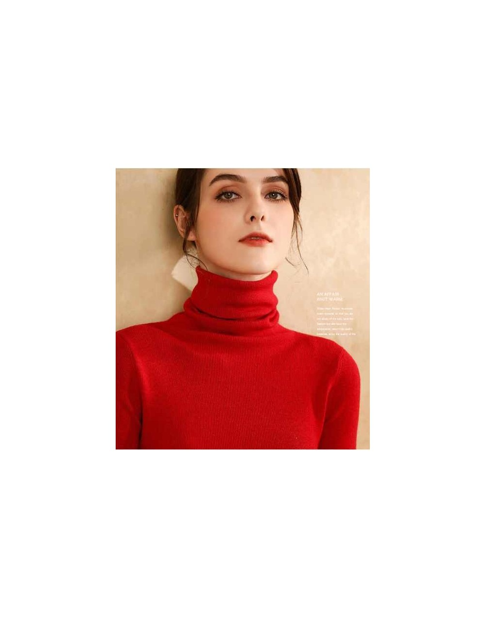 2019 New Arrival Turtleneck Sweater Female Pullover Autumn and Winter Basic Thickening Slim Women's Cashmere Wool Blend Swea...