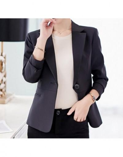 Red Pink Work Wear Blazers Suit Women 2019 Spring Long Sleeve Single Button Jackets Outwear Casual Office Ladies Blaser Femm...