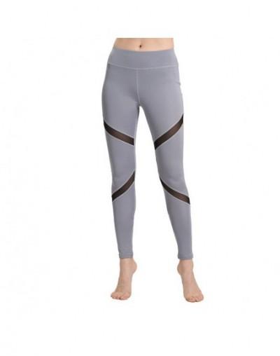 Fitness Sexy High Waist Hips Leggings Gothic Insert Mesh Design Pants Women Large Size Capris Spring Summer Sportswear - Gra...