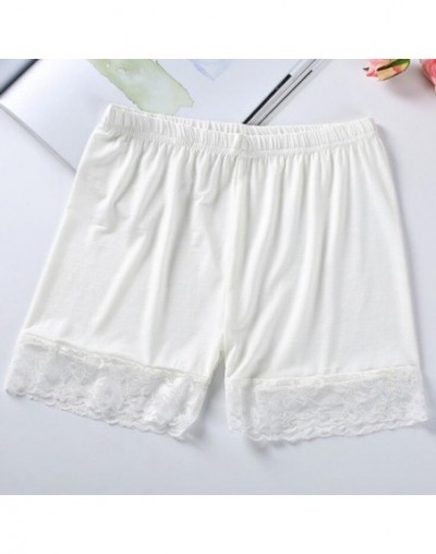 High Waist Shorts Summer Fashion Free Size Women Girl Sexy Elastic Crotches Casual Soft Black White Lace Shorts Femme - Whit...