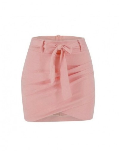 Sexy Women Skirt Fashion Irregular Pencil Bodycon Mini Skirts Evening Party Costume High Waist Skirt Lace Up Skirts Falda Mu...