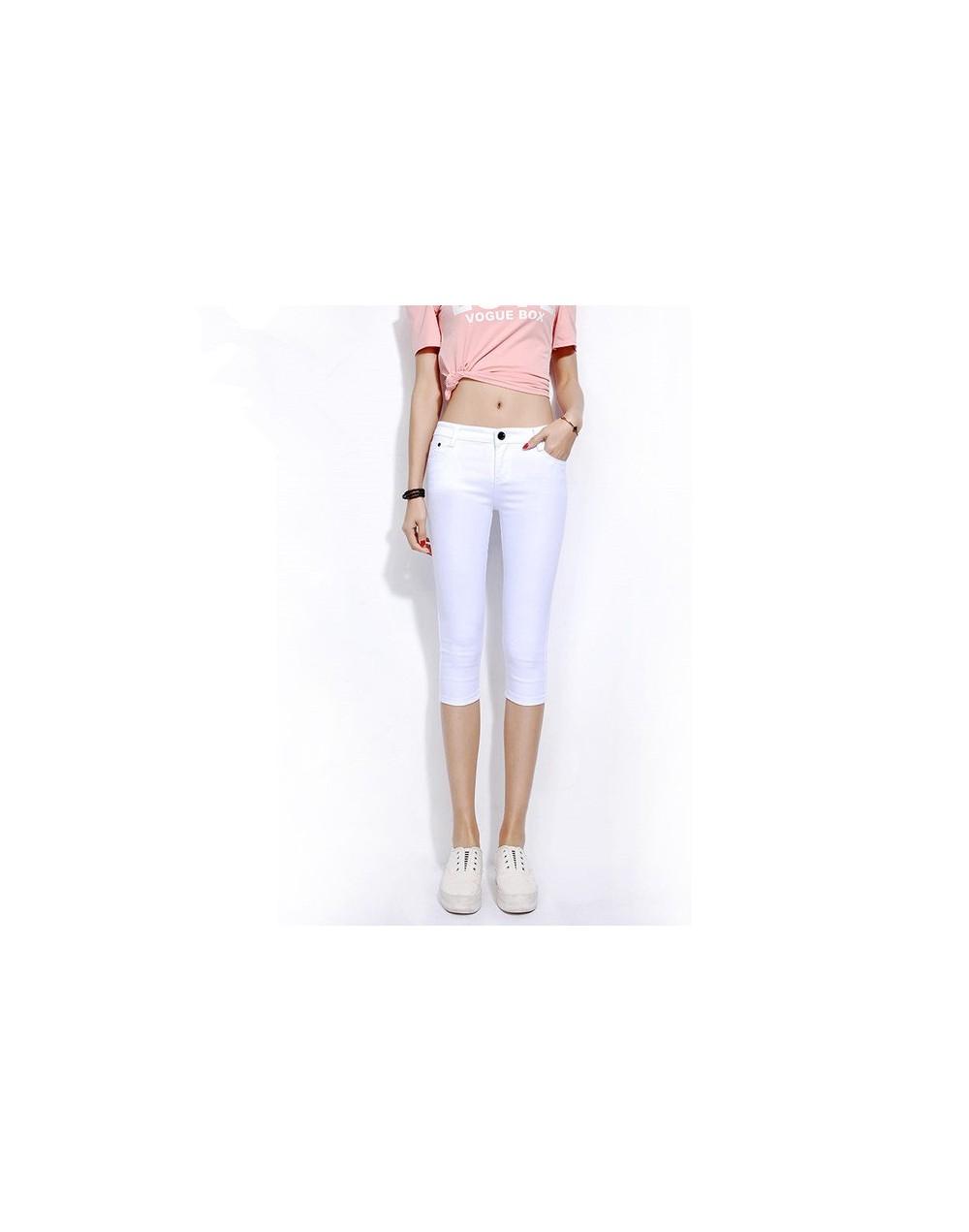 New Summer Candy Color 2019 Women Crop Leggings Slim Thin 3/4 Length Lady Leggin High Elastic Knee-Length female stretch cot...