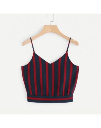 Women Crop Tops Sexy Strappy Button Sleeveless Bow Crop Top Vest Tank Shirt Blouse Tops Camisole regata feminino 2019 Y - B ...