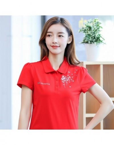 New Fashion Summer Women Polo Shirts Short Sleeve Cotton Shirts Women Tops Women Tees Female Tops Solid Polo Shirts - White ...