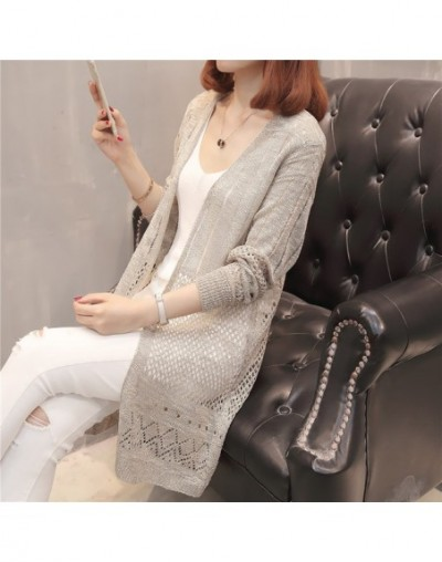 grow a flower in the spring and summer new yarn knit dress F2526 cardigan coat - see chart - 4F3979135359-3
