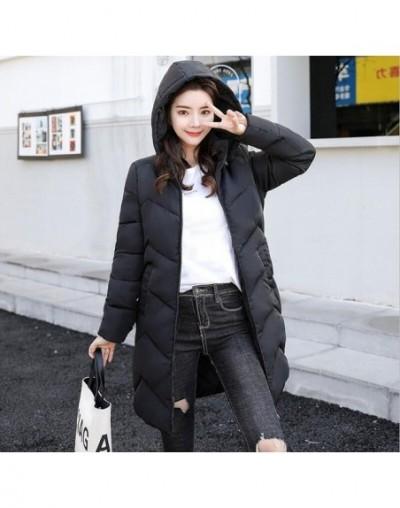 2019 Winter Jacket Women 6XL Plus Size Womens Parkas Thicken Outerwear hooded Winter Coat Female Jacket Cotton padded basic ...