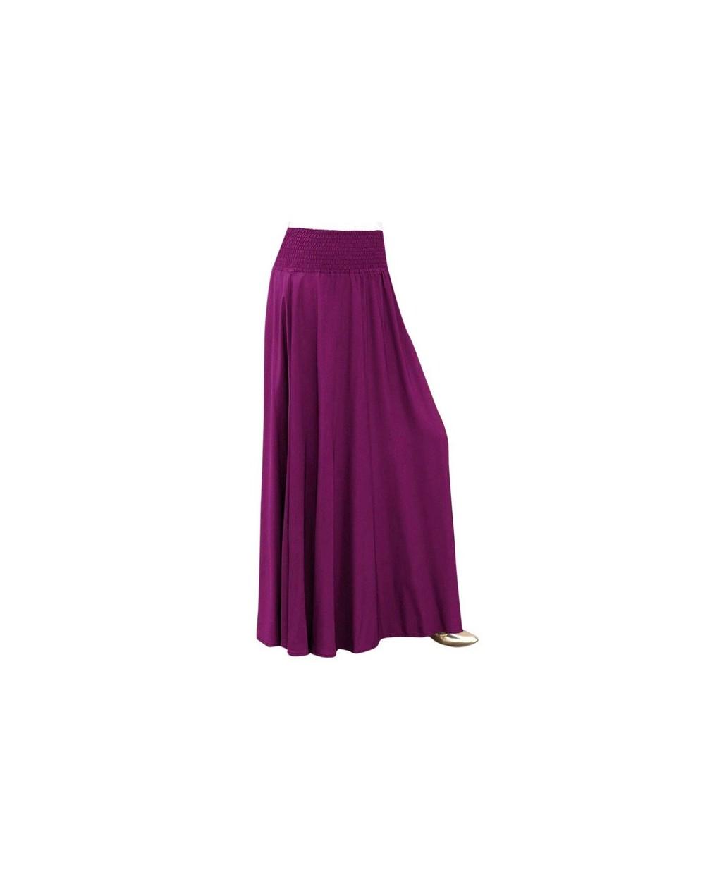 Women Fashion Elastic Waist Solid Color Cotton Pleated Skirt Vintage A-line Loose Casual Long Skirts Faldas Largas Autumn Ne...