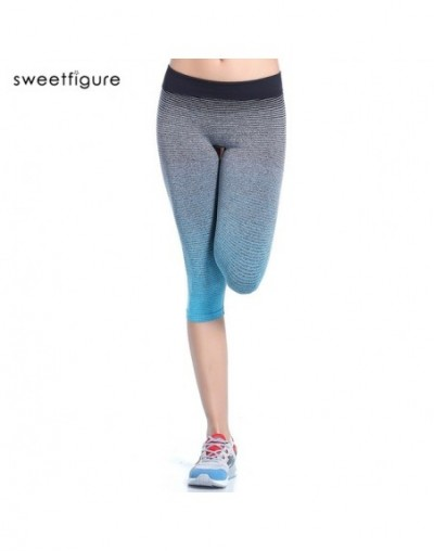 Pants Body Multicolor Women Fitness Leggings Short Bodybuilding Woman Leggings For Women - blue - 493786444172-1
