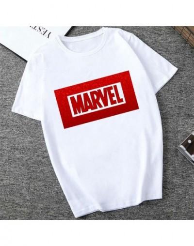 MARVEL Studios White T shirt Captain America Iron Spider Short Sleeve Vogue The Avengers Summer Tee Tops - XWT-0325-white - ...