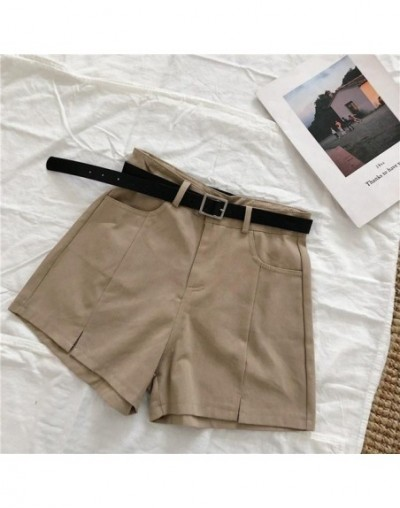 Casual Sashes Shorts Women 2019 Solid Hot Shorts Mujer with Belt Office Lady Summer High Waist Shorts Mujer Sexy Street - Br...