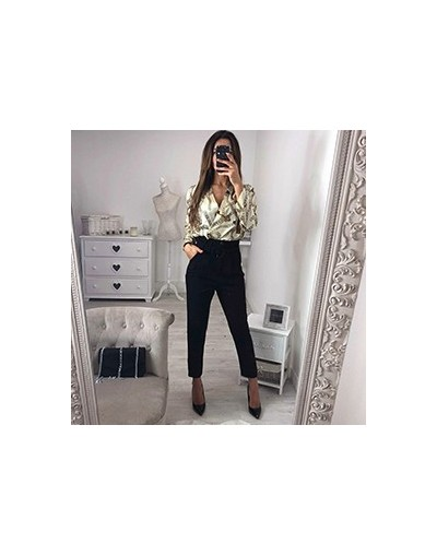 Sexy spring and summer fashion print long-sleeved halter deep V-neck sexy jumpsuit - Ivory - 32984790620