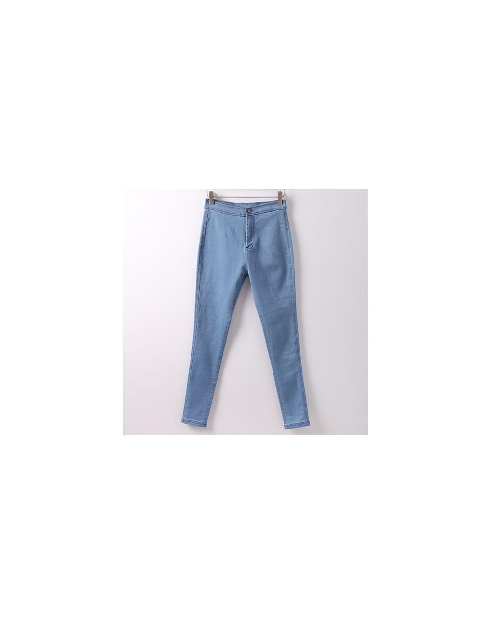 Skinny Jeans Woman Pantalon Femme Denim Pants Strech Womens Colored Tight Jeans With High Waist Women's Jeans High Waist - L...