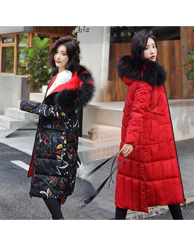 2019 Fashion Winter Jacket Women Slim Big Fur Hooded Both Two Sides Wear Ladies Long Parka Jacket Thick Warm Coat Plus Size ...