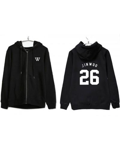 Winner hoodie kpop black zipper hoodie jacket for men women loose polerones for autumn winter casual sweatshirt - Orange - 4...