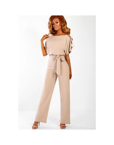 New 2019 Office Ladies Elegant Jumpsuit Long Pants Yellow Red Blue Formal Jumpsuit Women Club Party Overalls Female Rompers ...