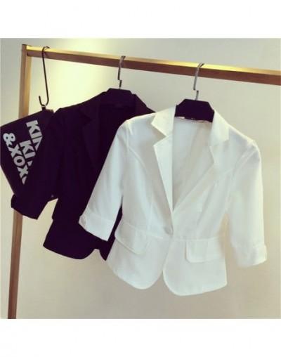 Female blazer outerwear 2017 spring and autumn women suit slim design women blazer white suit fashion jacket coat femme MZ69...
