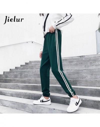 Fall 2019 Women Pants Pockets Zipper Elastic High Waist Female Trousers Broeken Pant Pantalon Cool Sweatpants S-2XL - Green ...