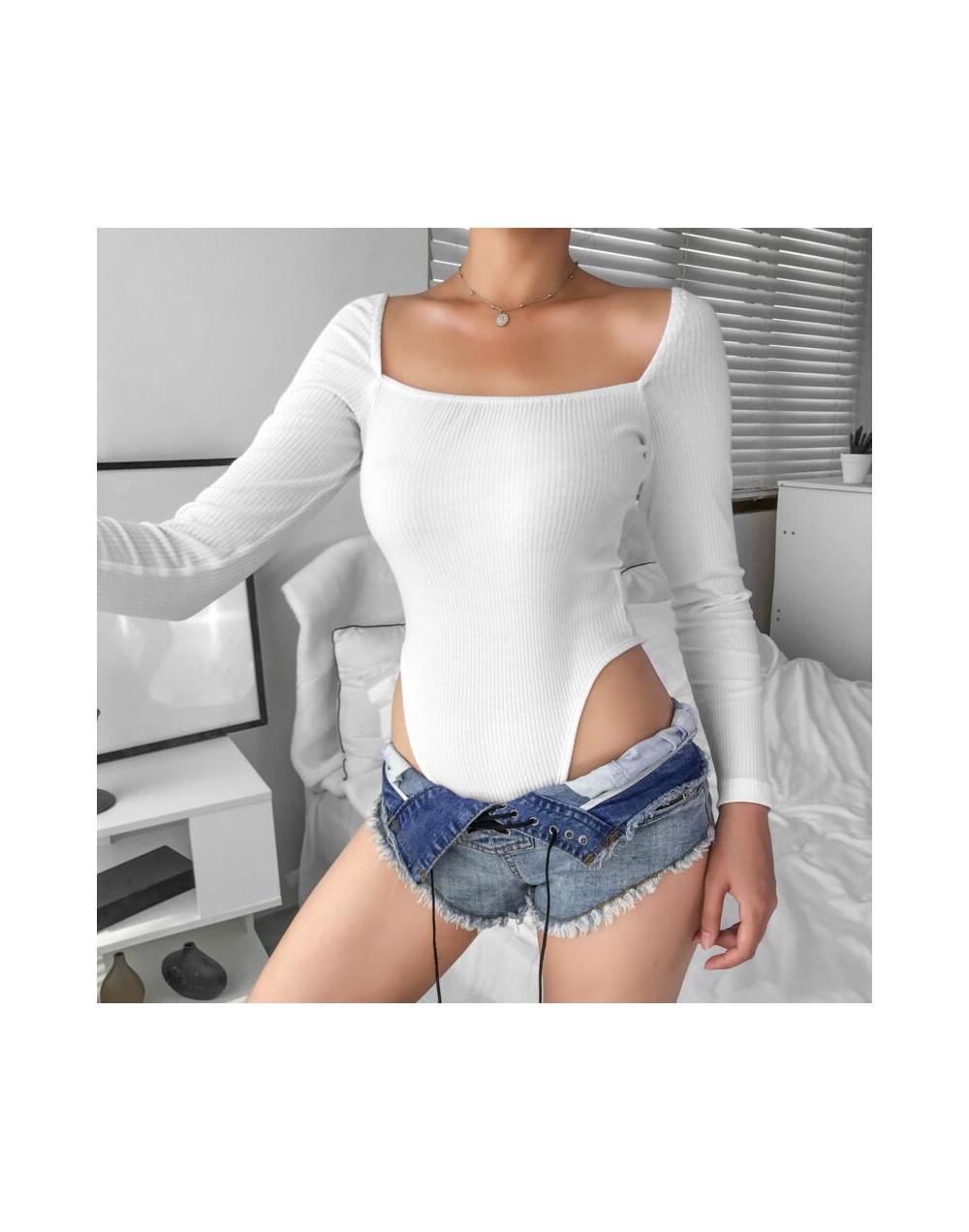 2019 New Autumn Sexy Women Long Sleeve Shirt Romper Casual Sling Stretch Leotard jumpsuit Bodysuit - 56111226699473