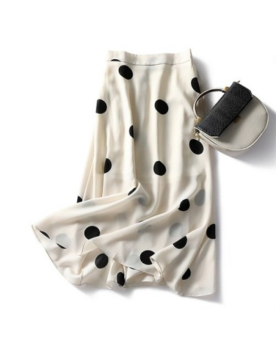 2019 Summer Chiffon Cute Polka Dot Skirt Women Korean Fashion Black White Holiday Beach A-line Midi Long Skirt Sun Female - ...
