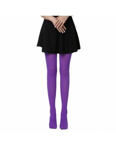 2019 Hot Classic Sexy Women 120D Opaque Footed Tights Thick Tights Women Fashion Tights - Purple - 4W3057289615-7