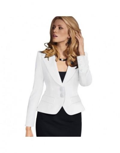 Womens Fashion Elegant Single Breasted Autumn Spring Blazers Notched Neck Full Sleeve Slim Coat Ladies OL Office Outwear Coa...