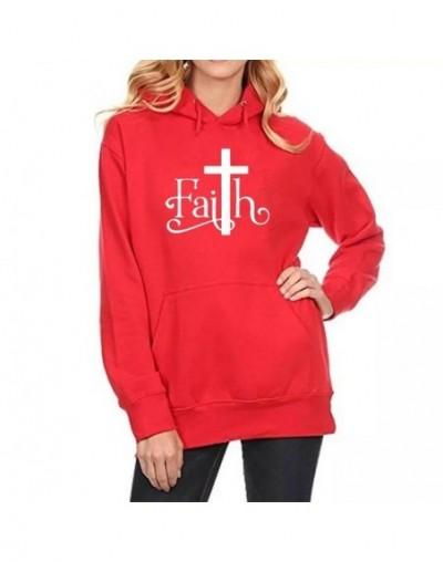 2018 Autumn New Faith Letters Print Hoodies Women Casual Pocket Sweatshirts Plus Velvet Warm Oversized Kawaii Pullover Hoodi...