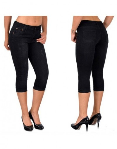 Summer Black Jeans Women Slim-fit Solid Mom Jeans Pants Stretch Bottoms Feminino Skinny Jeans Women Plus Size 5xl - Black - ...