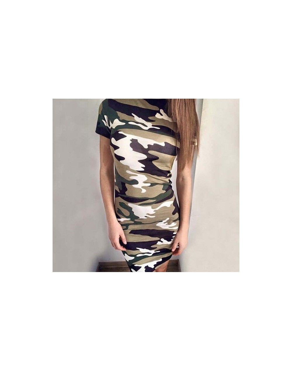 Women Cartoon Print Casual Camouflage Dress Sleeveless 2019 Summer New Slim Package Hip Dress Female Mini Dress Vestido Vera...