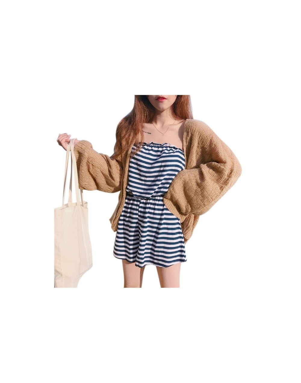 Vintage Knitted Kimono Cardigans Women Casual Tops And Blouse Ladies 2018 Summer Loose Solid Full Sleeve Blouse Tops - B2 - ...