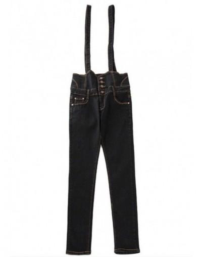 Women Jumpsuit Denim Overalls jeans 2018 Spring Autumn Black blue Strap Ripped Pockets Full Length Denim Jeans femme Jumpsui...
