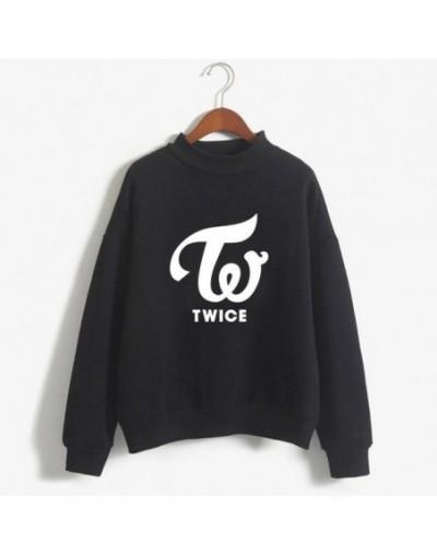 harajuku Hoodies Women Exo Blackpink Hoodies Twice Sweatshirts New Ladies Wanna One Got7 Monsta X Female Fan Hoodie - blackT...