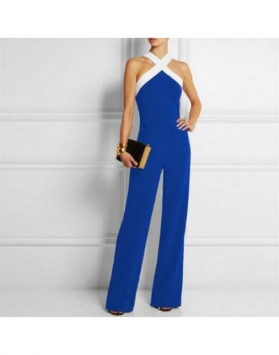 Long Women Jumpsuits 2019 Summer Plus Size Pants Sexy Halter Neck Off Shoulder Sleeveless Rompers Casual Playsuit Overall - ...