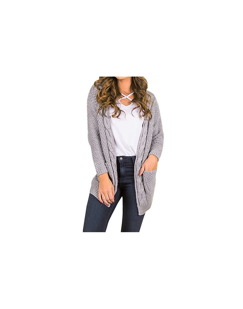 Long Cardigan Women Long Sleeve Knitted Sweater Cardigans Autumn Winter Womens Sweaters 2017 Jersey Mujer Invierno - Gray - ...