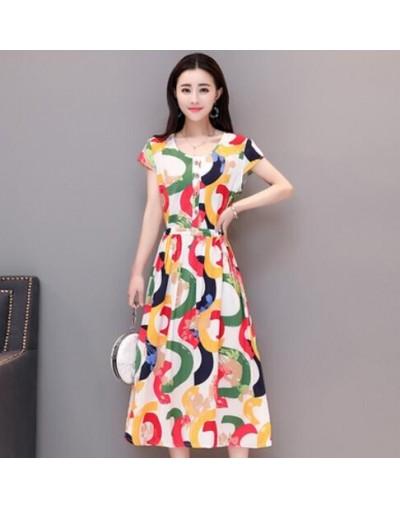 Plus Size 2019 Summer New Short-sleeved Print Vintage Dress Loose Long Dress XL-6XL Women Dress RE2336 - 6 - 423004408428-3
