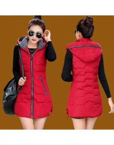 Autumn Winter Vest Women Waistcoat 2019 Female Sleeveless Jacket Hood Warm Long Vest Jacket Colete Feminino Plus Size 5XL C3...