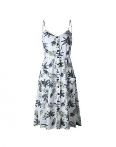 Ladies Print Floral Long Boho Bohemian Beach Summer Dress Women Sundress Sexy V-Neck Sleeveless Strap Maxi Vintage Dress Ves...