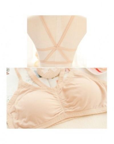 1PC Fashion Sexy Women Tanks Lady Crop Top Tank Tops Padded Bra Vest Blouse Bustier Vest Summer - Khaki - 4U3765048505-4