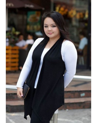 3XL Women Big Size Vest Waistcoat XXL Female Large Plus Size Clothing Sleeveless Outwear Spring Summer Cardigan Casual Cloth...