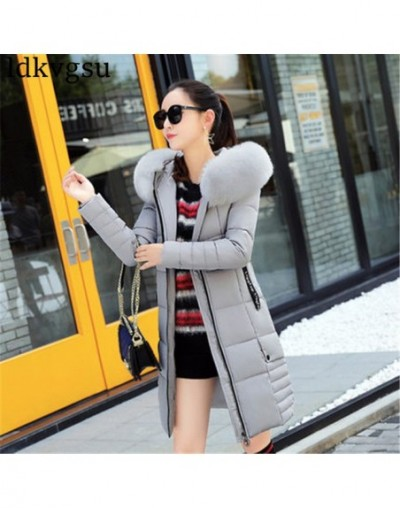 2019 New Winter Jackets Women Plus Size Long Cotton Coat Female Fur Collar Hooded Thick Warm Parka High Quality Outerwear A1...