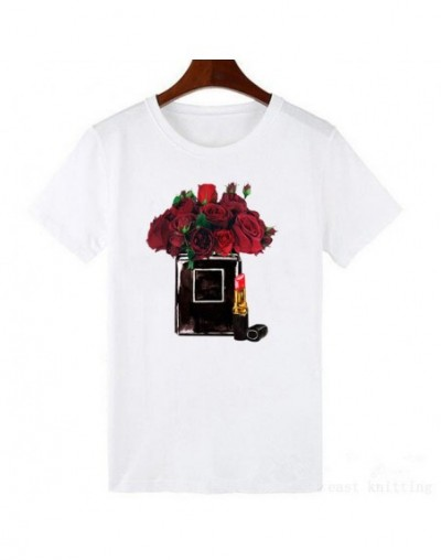 Sweet T Shirt For Women Fashion Colorful Printed Tops Simple Modal Style Female T Shirt - 122 - 4N3001217118-15