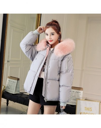Cheap wholesale 2018 new winter Hot selling women's fashion casual warm jacket female bisic coats L196 - Gray - 4Z3029521847-3