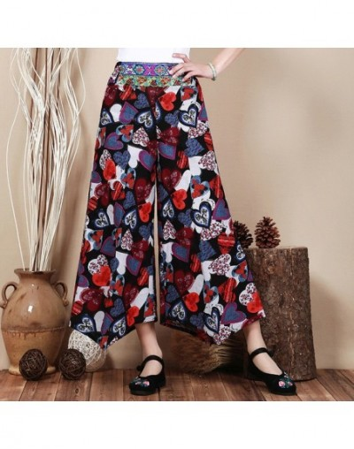 New Summer Wide Leg Pants Broeken Fashion Woman Cotton Linen High Waist Pants Female Fashion Loose Skirt Trousers Women Clot...