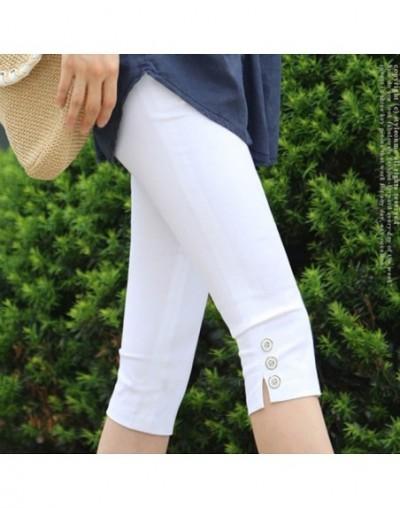 Women's Plus Size S-XXXL Summer Slim Waist Candy Color Stretch Leggings Capris Fashion Pencil Pants Crops For Female Hot Sal...