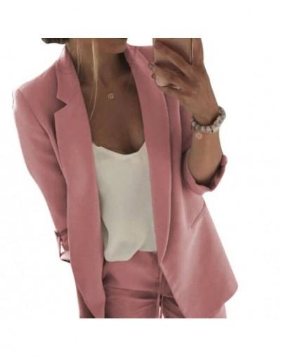 Women Lady Long Sleeve Slim Blazer Suit Coat Work Jacket Formal Suit Ladies Solid Blazers Women OL Clothes Tops Coat Plus M-...